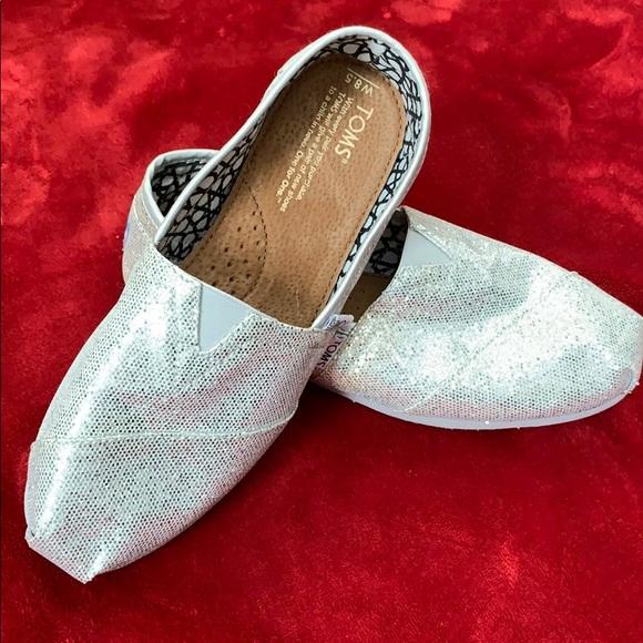 Toms Silver Iridescent Glitter Womens